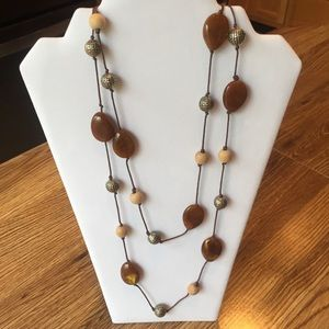 Jewelry - Beaded Brown Necklace